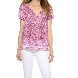 NWOT Joie Tanger Cotton & Silk Top in Verbena